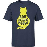 Stop Stressing Meowt T-Shirt - Navy - XL