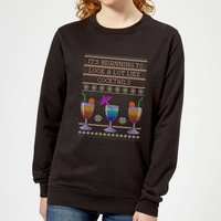 Its Beginning To Look A Lot Like Cocktails Women's Sweatshirt - Black - XL
