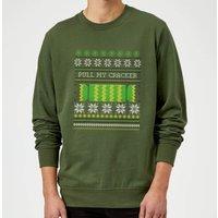 Pull My Cracker Sweatshirt - Forest Green - L - Black