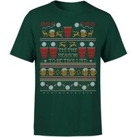 Tis The Season To Be Trollied T-Shirt - Forest Green - XXL - Forest Green
