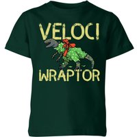 Veloci Wraptor Kids' T-Shirt - Forest Green - 9-10 Years - Forest Green