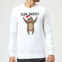 Slow Angels Sweatshirt - White - XXL - White