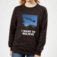 I Want To Believe Women's Sweatshirt - Black - XS - Black