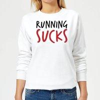 Running Sucks Women's Sweatshirt - White - XXL - White