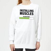 Installing Muscles Women's Sweatshirt - White - XXL - White