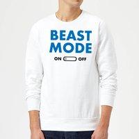 Beast Mode On Sweatshirt - White - XL - White