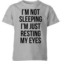 My Little Rascal Im not Sleeping Im Resting my Eyes Kids' T-Shirt - Grey - 9-10 Years - Grey
