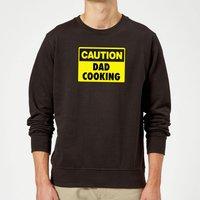 Caution Dad Cooking - Black Sweatshirt - XXL - Black - Cooking Gifts
