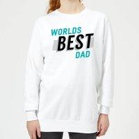 Worlds Best Dad Women's Sweatshirt - White - XL - White