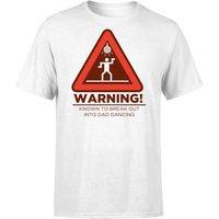 Warning Dad Dancing T-Shirt - White - L - White - Dancing Gifts
