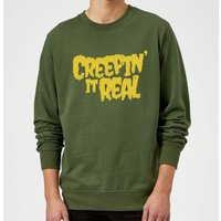 Creepin it Real Sweatshirt - Forest Green - L - Red