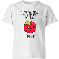 My Little Rascal I Love You From My Head Tomatoes Kids' T-Shirt - White - 5-6 Years - White