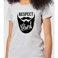Respect the Beard Women's T-Shirt - Grey - 4XL - Grey