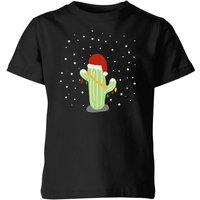 Cactus Santa Hat Kids' T-Shirt - Black - 5-6 Years - Black