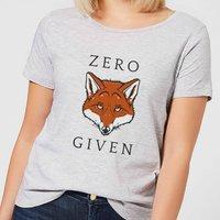 Zero Fox Given Women's T-Shirt - Grey - L - Grey