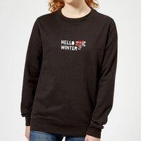 Hello Winter Women's Sweatshirt - Black - M - Black