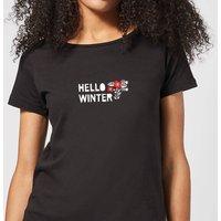 Hello Winter Women's T-Shirt - Black - L - Black