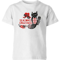 Season's Greetings Kids' T-Shirt - White - 11-12 Years - White