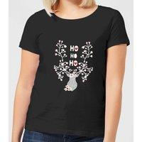 Ho Ho Ho Reindeer Women's T-Shirt - Black - XXL - Black