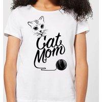 Cat Mom Women's T-Shirt - White - M - White