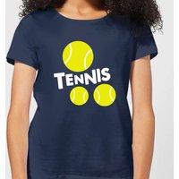 Tennis Balls Women's T-Shirt - Navy - XXL - Navy