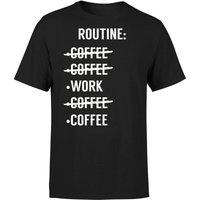 Coffee Routine T-Shirt - Black - XL - Black