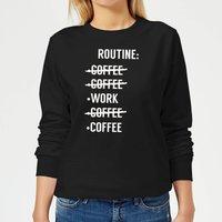 Coffee Routine Women's Sweatshirt - Black - M - Black