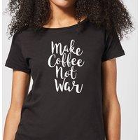 Make Coffee Not War Women's T-Shirt - Black - M - Black