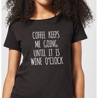Coffee Keeps me Going Women's T-Shirt - Black - XXL - Black
