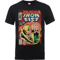 Marvel Comics Iron Fist Die By My Hand Men's Grey T-Shirt - M - Black - Marvel Gifts