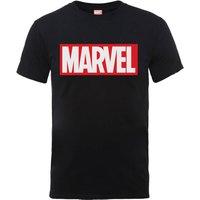Marvel Main Logo Men's Black T-Shirt - S - Black