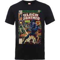 Marvel Comics The Black Panther Big Issue Men's Black T-Shirt - L - Black