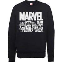 Marvel Comics Action Tiles Men's Black Sweatshirt - XXL - Black