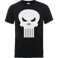 Marvel The Punisher Skull Logo Mens Black T-Shirt - XXL