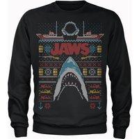 Jaws Fairisle Men's Christmas Sweatshirt - Black - XL - Black