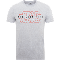 Star Wars The Last Jedi Mens Grey T-Shirt - M - Grey