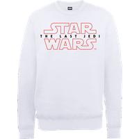 Star Wars The Last Jedi Men's White Sweatshirt - XXL - White