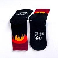Sako7 New York Skyline Socks - Sunset - S - Black