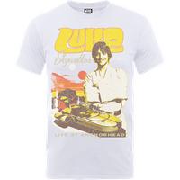 Star Wars Luke Skywalker Rock Poster T-Shirt - White - XXL - White - Poster Gifts