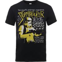 Star Wars Stormtrooper Rock Poster T-Shirt - Black - XXL - Black - Poster Gifts