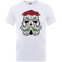 Star Wars Day Of The Dead Stormtrooper T-Shirt - White - S - White