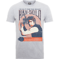 Star Wars Han Solo Retro Poster T-Shirt - Grey - XXL - Grey - Poster Gifts