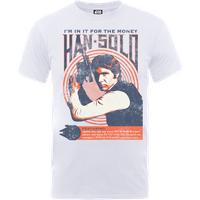 Star Wars Han Solo Retro Poster T-Shirt - White - XXL - White - Poster Gifts
