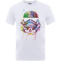 Star Wars Paint Splat Stormtrooper T-Shirt - White - XL