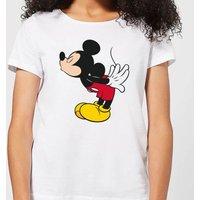 Disney Mickey Mouse Mickey Split Kiss Women's T-Shirt - White - S - White