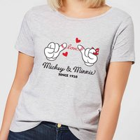 Disney Mickey Mouse Love Hands Women's T-Shirt - Grey - M - Grey