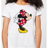 Disney Mickey Mouse Minnie Split Kiss Women's T-Shirt - White - L