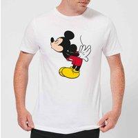 Disney Mickey Mouse Mickey Split Kiss T-Shirt - White - 5XL - White