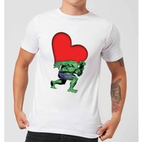 Marvel Comics Hulk Heart T-Shirt - White - 4XL - White