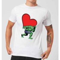 Marvel Comics Hulk Heart T-Shirt - White - 4XL - White